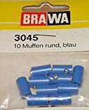 Brawa 3045 10 Muffen, rund, blau