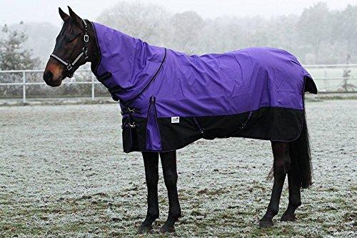 1200 Denier Lila Fleece Lining ohne Füllung 145 155 mit o ohne Hals Winterdecke Outdoordecke Regendecke Tysons (mit Hals, 155)