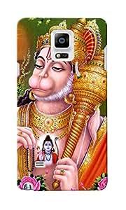 KnapCase Shree Hanuman Designer 3D Printed Case Cover For Samsung Galaxy Note 4