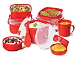 Sistema Microwave Rice Steamer, 2.6 L - Red/Clear Bild 6