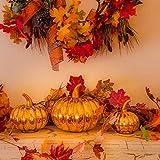 HENMI Ahornblatt, künstliche Ahornblatt,ünstliche Herbst-Ahornblätter Ahornblatt Für Halloween,Thanksgiving Day,Hochzeit und Partei Dekorationen-500 Stück - 4