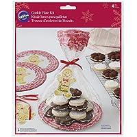 Wilton Natale biscotto Gifting piatti, 4-Count, Multicolore, confezione da 4