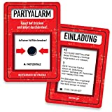 Einladungskarten zum Geburtstag - Partyalarm | 50 Stück | Inkl. Druck Ihrer persönlichen Texte | Individuelle Einladungen | Karte Einladung