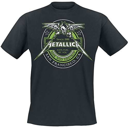 Metallica 100% Fuel - Seek And Destroy T-Shirt schwarz Schwarz