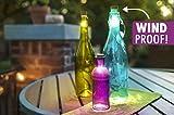 R.P.L. LED Korken Warmweiss CORC Stoppel Tischlampe Flaschenbeleuchtung Gartenlampe KORK USB Lampe Akku USB Bottle light ROT GRÜN BLAU