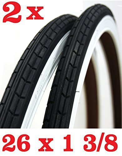 Offerta 2 X Copertone Per Bicicletta Misura 26 X 1 38 Bianco