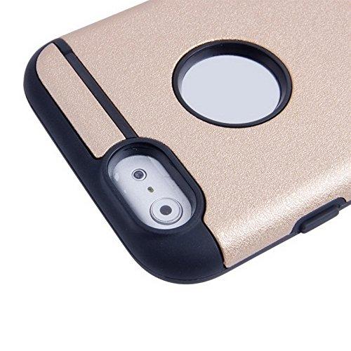 Phone case & Hülle Für IPhone 6 / 6s, 0.3mm ultradünner bunter Spangle TPU transparenter Fall ( Color : Silver ) Gold