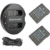 Newmowa EN-EL14 Replacement Battery (2 pack) and Dual USB Charger for Nikon EN-EL14, EN-EL14a and Nikon P7000, P7100, P7700, P7800, D3100, D3200, D3300, D5100, D5200, D5300, Df