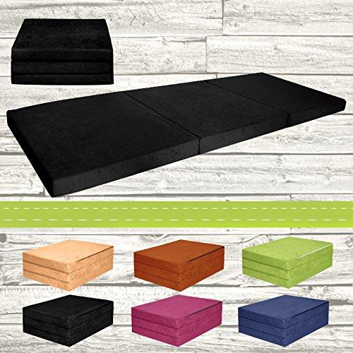 Materasso-pieghevole-per-ospiti-letto-per-letto-Ospite-futon-Pouf-195-x-80-x-9-cm-colore-nero