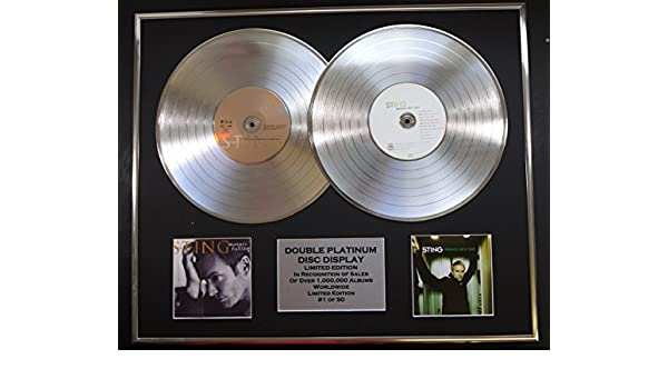 STING//CD DISPLAY//LIMITED EDITION//COA//MERCURY FALLING