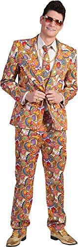 Richie Größe 56/58 Herren 60er 70er Jahre Motto Party Flower Power Woodstock Show Karneval Fasching Pierro's (60er Jahre Herren Anzug)