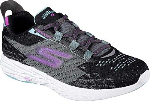 Skechers Go Run Vortex, Chaussures de Running Compétition homme noir/charbon