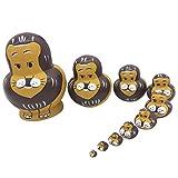 CUTICATE 10 Stücke Pinguin Muster Babuschka Russische Verschachtelung Puppe Holz Matroschka Spielzeug - 10pcs - Löwe