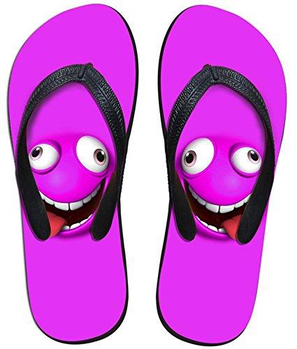 Für U Designs Fashion Unisex Sommer Strand V Flip Flops Bequeme Hausschuhe Schuhe Sandalen Violett - Emoji Purple