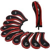 Beehive Filter 10x Golfschlägerhauben mit Reißverschluss, lang, Passform für alle Marken wie Taylormade, Titleist, Callaway, Ping Cobra, Nike etc., 2-Sw