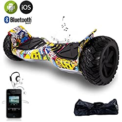 "EVERCROSS 8.5"" Hoverboard Scooter Patinete del mano Eléctrico Bluetooth APP self balancing (Hiphop)"