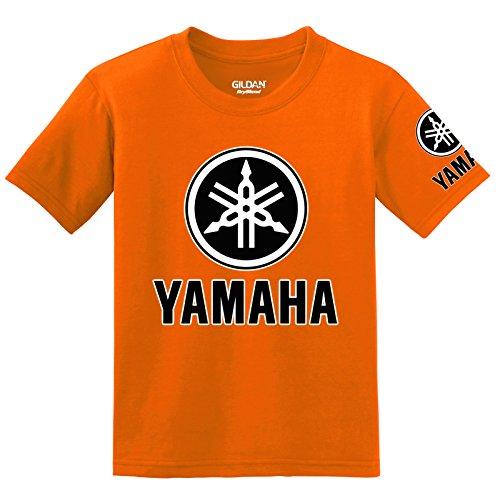 Yamaha Logo with Sleeve T-Shirt, XX-Large Orange (Chevy-hoodie Camo)