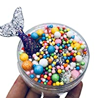 Yidartono Color Mermaid Mixing Cloud Slime Squishy Putty Scented Kids Clay Toy