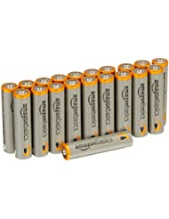 AmazonBasics Lot de 20 piles alcalines Type AAA 1,5 V 1340 mAh (design variable)