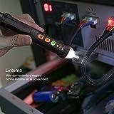 Tacklife VT01 Detector del Voltaje CA sin contacto con flash LED, alarma sonora,...