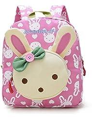 Gwell 3D Sac à Dos école Maternelle Enfant Bébé Filles Sac Garçons Scolaire Kindergarten Backpack Lapin