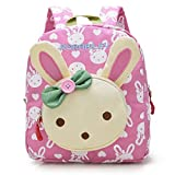 GWELL 3D Bunny Babyrucksack Kindergartenrucksack Kindergartentasche Backpack Schultasche Kinder Mädchen rosa