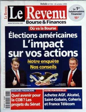 revenu-le-no-592-du-20-10-2000-elections-americaines-limpact-sur-vos-actions-bush-et-gore-quel-aveni