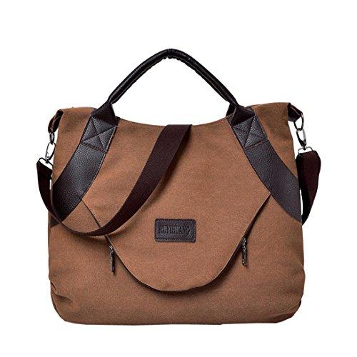 Longra Damen Handtasche Damen Herren 3D Galaxy Reisetasche Rucksack Henkeltasche Schulter Bookbag Schultasche Elegante Umhängetasche für Damen Shopper Tasche Vintage Hobo Bags (Coffee)