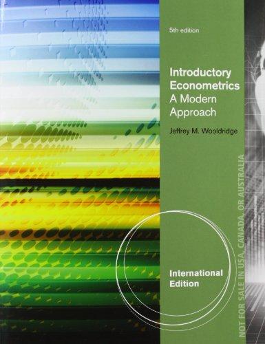 Introductory Econometrics por Jeffrey Wooldridge