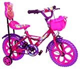 #1: Kids Bicycle for 2 to 5 Years Kids NY Bikes Aqua 14T Steel (Pink & Purple)