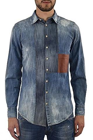 Dsquared2 Men's Jeans Shirt Leather Pocket Blue - size 46/50