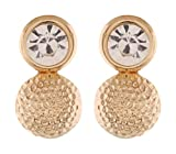 Royal Collection Gold Metal Stud Earring...
