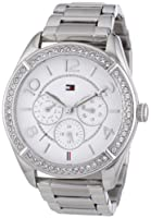 Reloj Tommy Hilfiger analógico de cuarzo para mujer con correa de acero inoxidable, color plateado 1781252