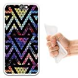 WoowCase Funda para HTC One A9, [HTC One A9 ] Silicona Gel Flexible Espacio Galaxia Triangulos...