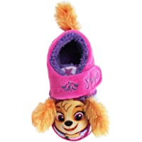 Paw Patrol Slippers Kids Girls Novelty Pink House Shoes Size 5-10 3D Hook & Loop