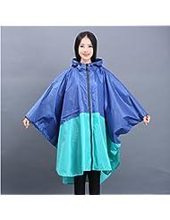 Imperméable en caoutchouc Forme pour adultes Poncho Imperméable imperméable à l'eau Manteau imperméable avec 4 couleurs