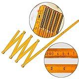 Hölzernes Faltlineal, Yogogo Wooden Yard Stick Falten Lineal Holz Tischler Metrische Messwerkzeuge 200cm