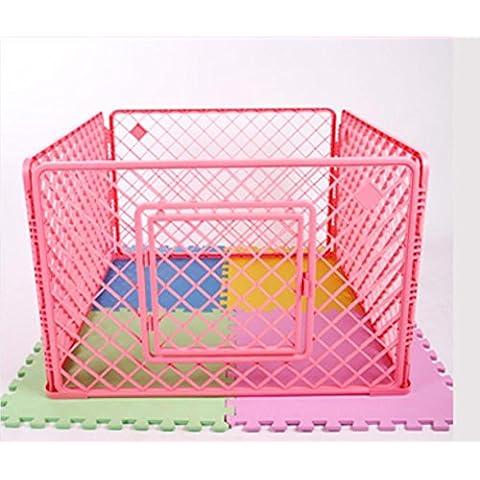 Animale domestico cane recinzioni Dog Crate plastica recinto canile gabbia pp resina materiale , pink , small - Portatile Dog Bath