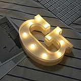 Blanketswarm Decorativo LED Alfabeto Leggero Plastica Lettera Segno Luci per Partito Nozze Festival natale decoro (G)