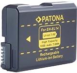 Bundlestar * Qualitätsakku für Nikon EN-EL14 - Intelligentes Akkusystem - 1030mAh - für - Nikon D3100 D3200 D5100 D5200 - Coolpix P7100 P7000 (P7700 bis Update 1.2)