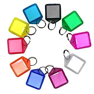 Schlüsselanhänger mit Schüsselring und Beschriftungsfeld - Aufklappbar - 38x27mm - DER KLEINE - mehrere Farben zur Auswahl - einzeln oder im 10er Pack