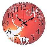 LOHAS Home 30cm Orologio da parete, 12in Vintage Colorful Francia Parigi Stile francese del paese toscano di numeri arabi design silenzioso Orologio da parete in legno Home Decor