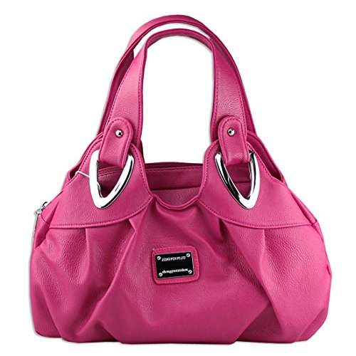 6e7d7166c6034 KAXIDY Damen PU Leder Handtaschen Schultertaschen Tasche Handtasche  Umhängetasche Rose