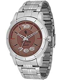 Costa Swiss Brown Dial Stainless Steel Men's & Boy's Analogue Watch
