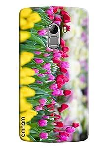Omnam Valley Of Flowers Tulip Effect Printed Designer Back Case Lenovo K4 Note