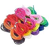 NBEADS 60 Hilos de 1 Metro de Cadena de plástico de 2 mm de Espesor PVC Tubular de Cables de Goma de la joyería Cuerdas, Color Mezclado