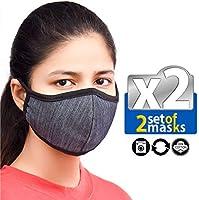 Unisex Set Of Reusable Protection Washable Face Mask Facial Skin Mouth Filter Option Nose Bridge Anti Smoke Breathable...