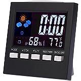 Digital LCD Alarm Clock Indoor /Outdoor Hygrometer Temperature Meter