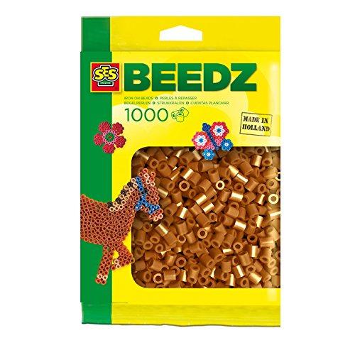 SES Creative - Cuentas para planchar, color marrón (00705)