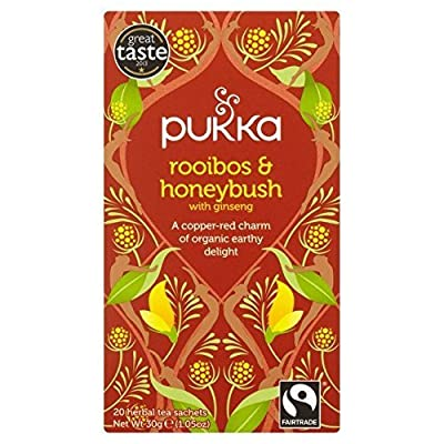 Pukka Tisane Bio Rooibos Honeybush 20 Sachets 40 g - Lot de 2